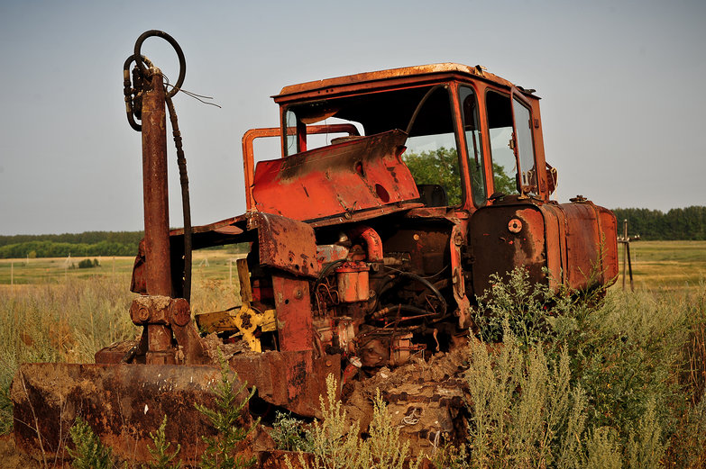 Old Russian Tractor