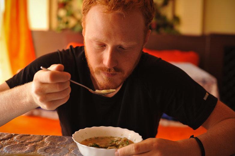Tyler Eating Soup
