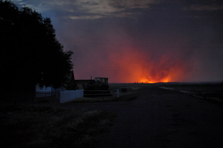 Fire Near the Kazakh Border