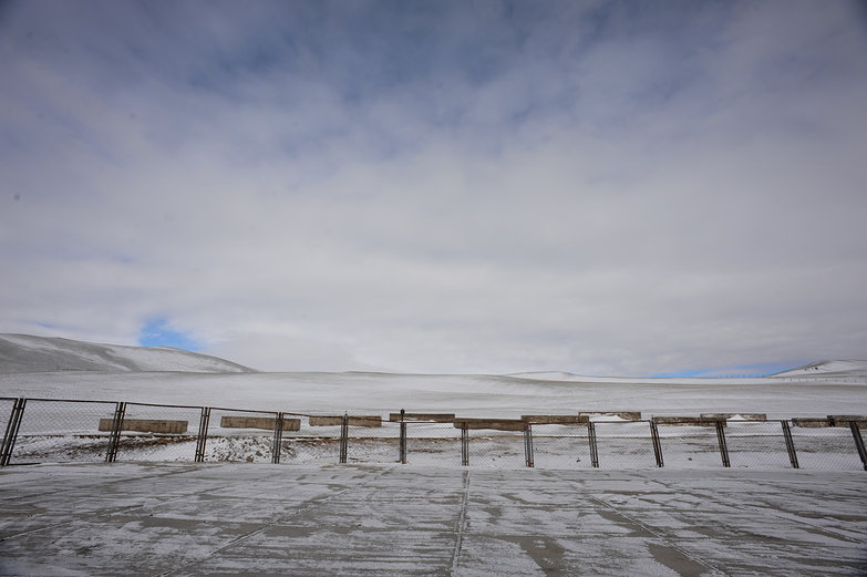 Snowy Morning View from Mongolian Border Crossing