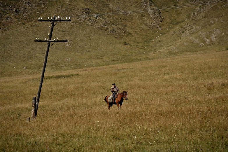 Altay Man on Horseback