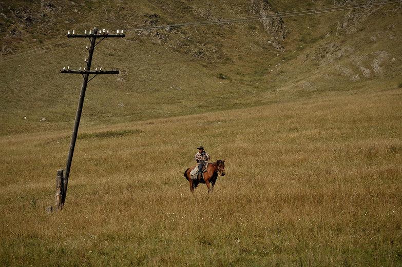 Altay Man on Horseback