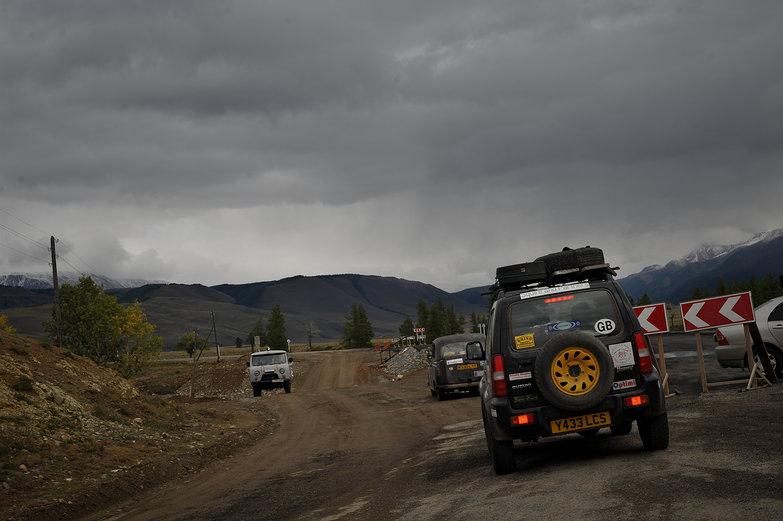 Following Mongol Rally Cars