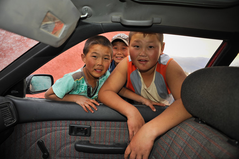 Curious Mongolian Kids