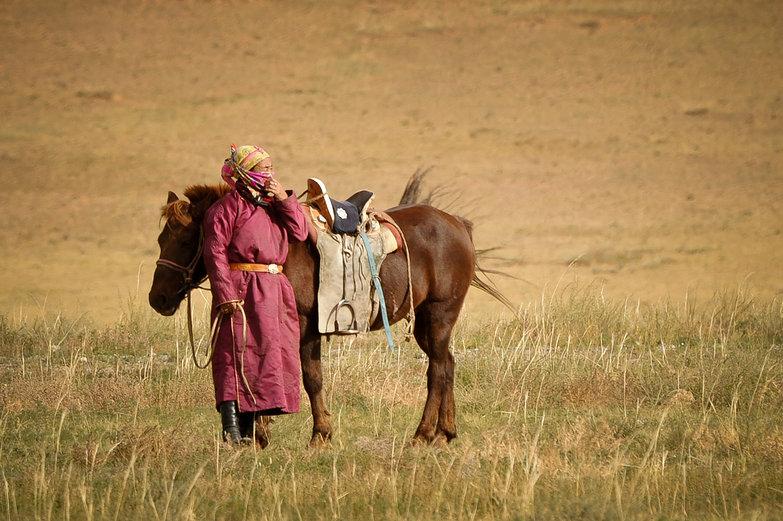 Mongolian & Horse