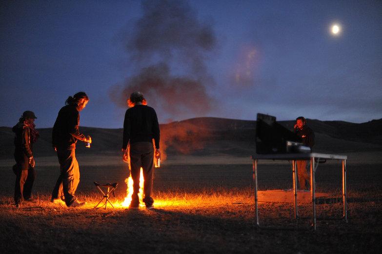Mongolian Moonlit Campfire