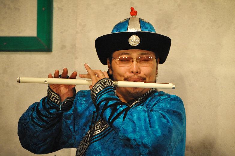 Mongolian Flautist