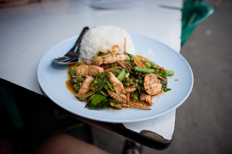 Pad Kee Mao in Bangkok