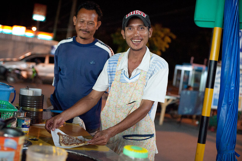 Thai Crepe Maker Proud of His Work