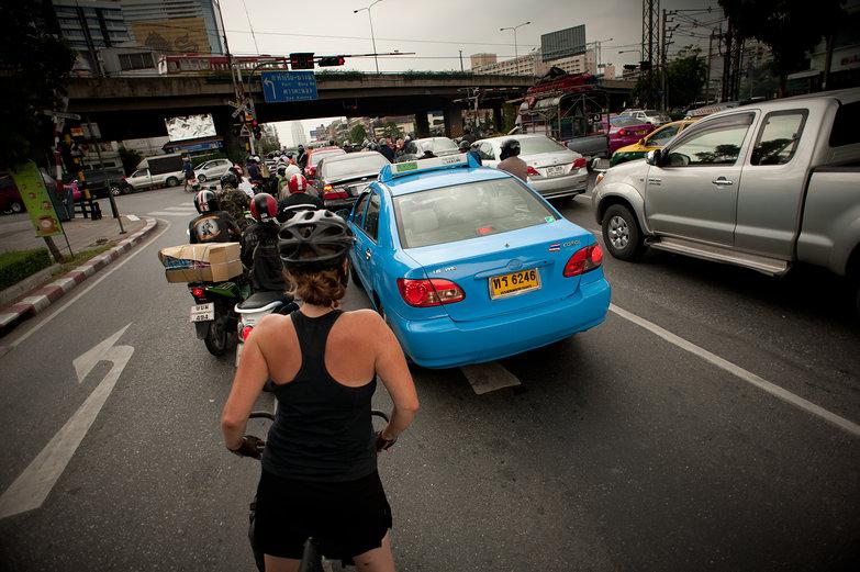 Tara in Bangkok Traffic