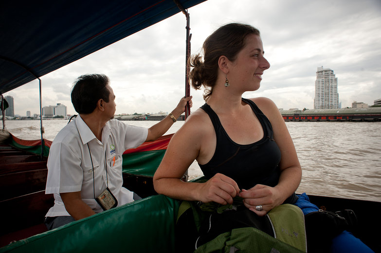 Tara on the Klong Boat Tour