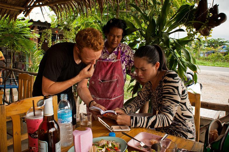 Tyler & Thai Women with Phrasebook