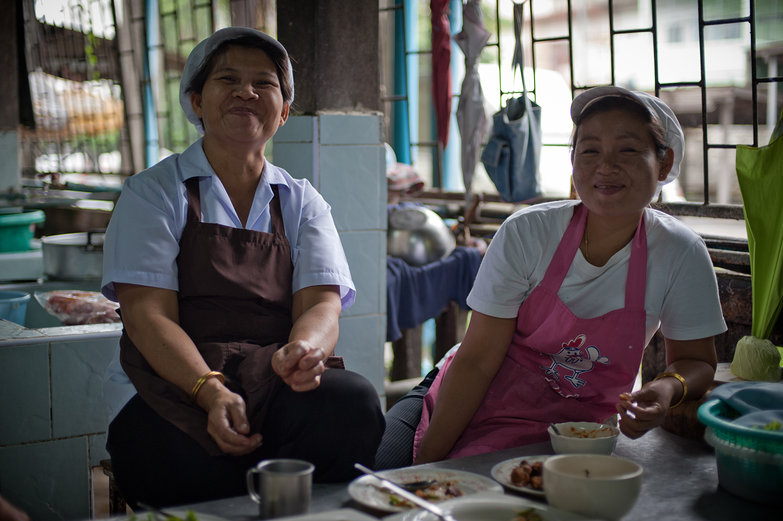 Women Smiling in Bualuang Kitchen