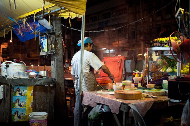 Night Market Dinner in Thailand