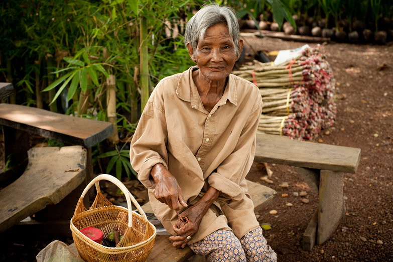 Thai Woman Preparing Betel Nut Chew