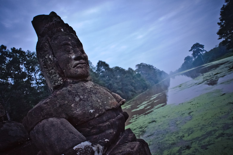 Statue and Moat of Angkor Thom