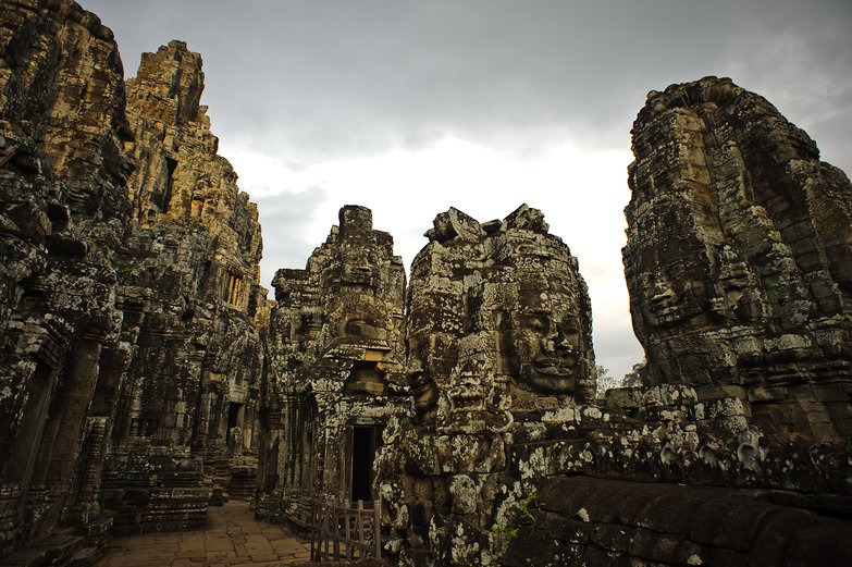 Huge Faces of the Bayon