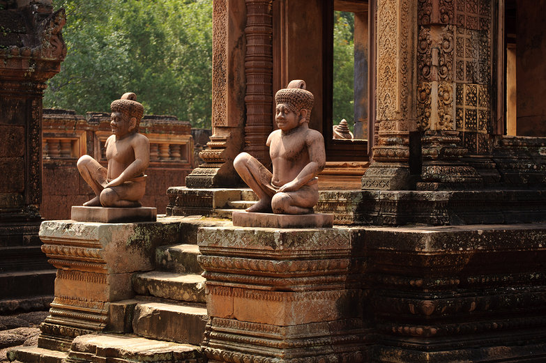Banteay Srei Temple Stairs