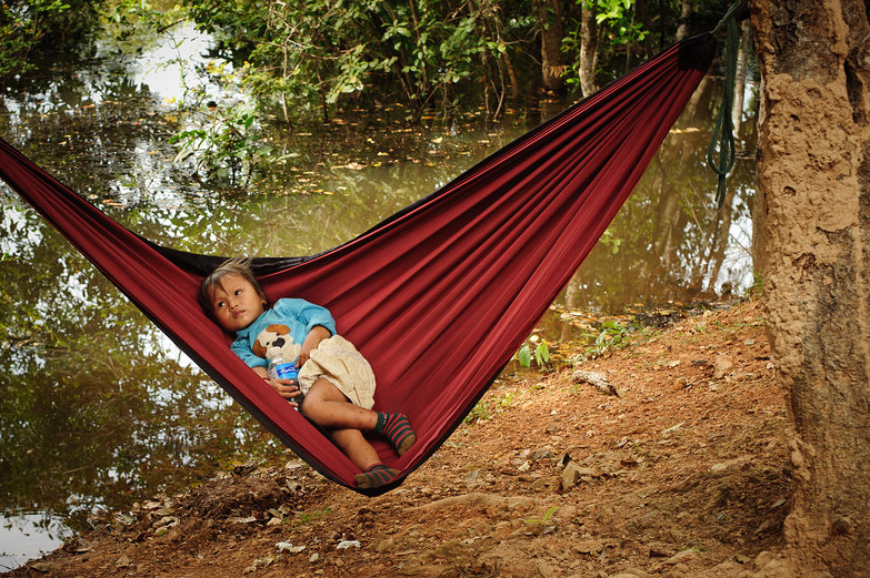 Cambodian Girl in Hammock