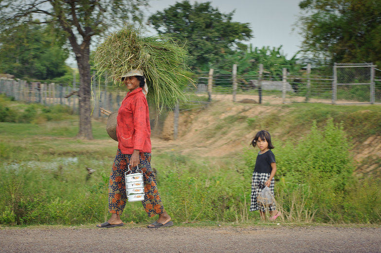 Cambodian Woman & Girl