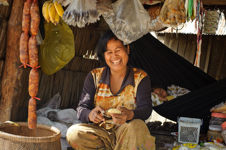 Smiling Cambodian Woman