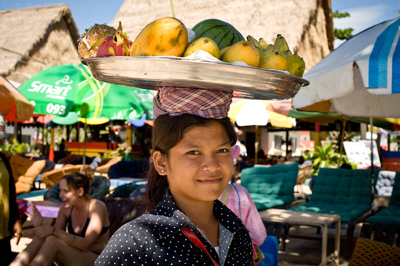 Sihanoukville Fruit Seller