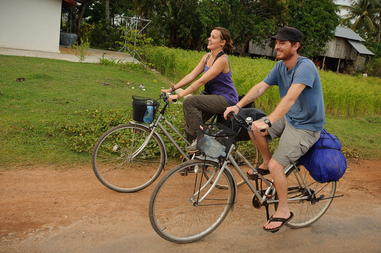 Natasha & Pete Riding Bikes