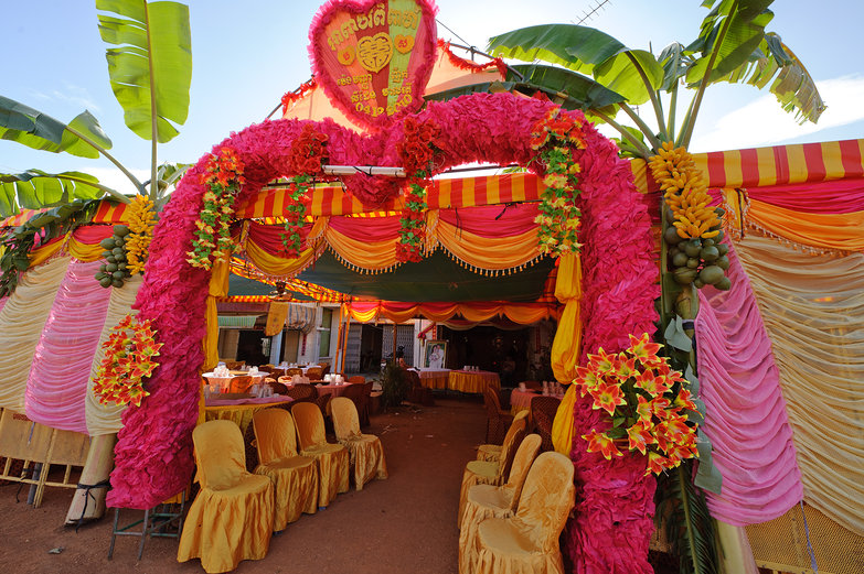 Cambodian Wedding Tent