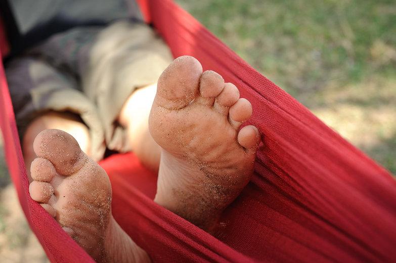 Tyler's Sandy Feet in Hammock