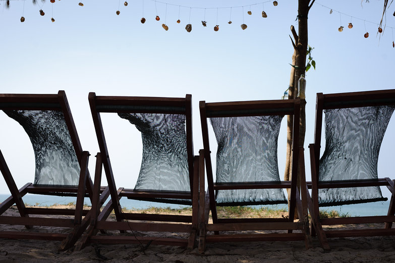 Beach Chairs & Shell Garland