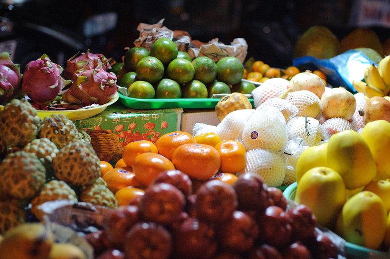 Vietnamese Fruit Stand