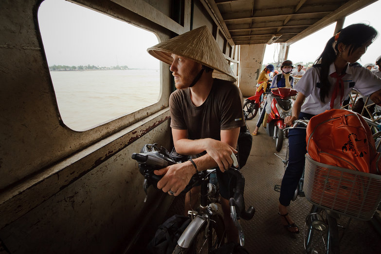 Tyler on Vietnamese Ferry