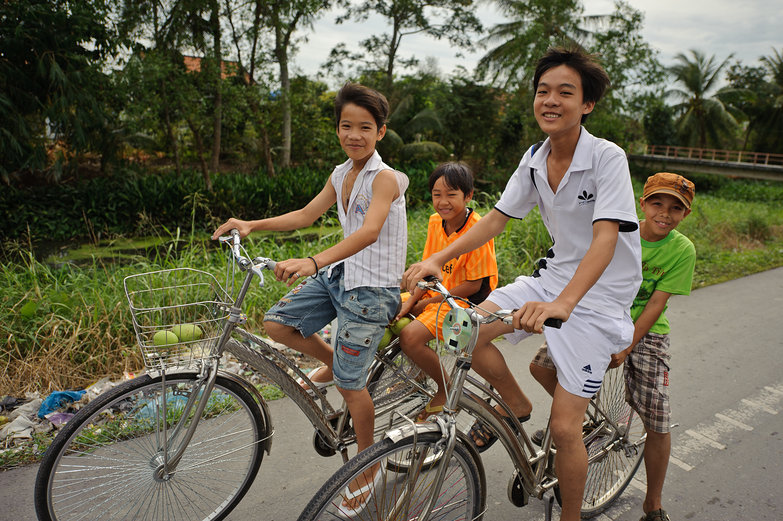 Vietnamese Boys on Bikes