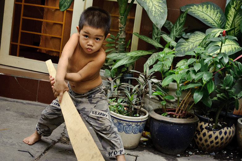 Vietnamese Kid with Sword