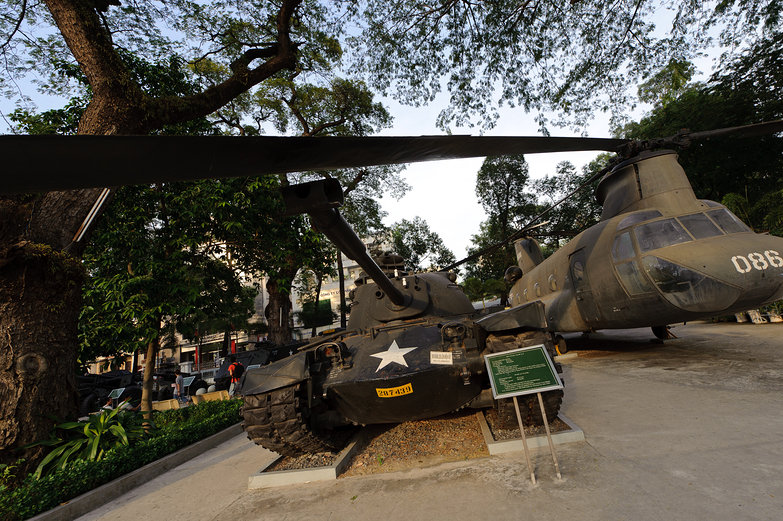 War Remnant Museum Tank & Helicopter