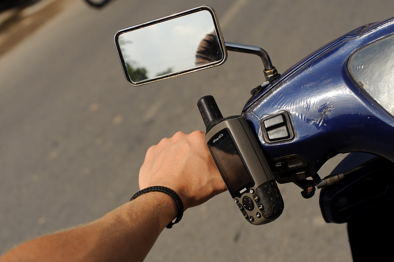 GPS on Rented Motorbike