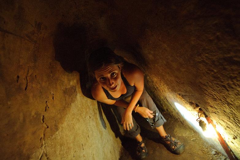 Tara in Cu Chi Tunnels