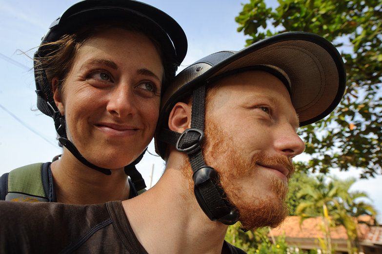 Us on a Motorbike in Vietnam