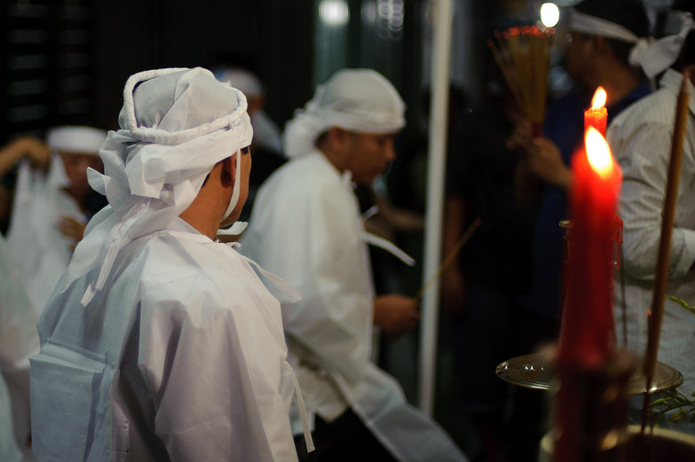 Vietnamese Funeral Attendees