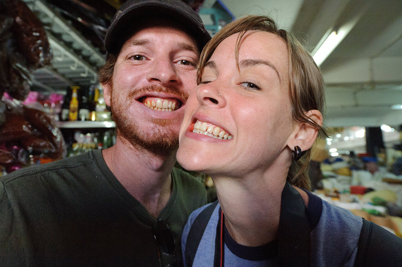 Pete & Natasha Chewing Betel