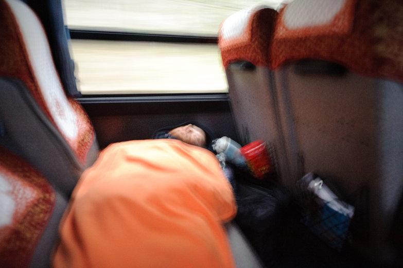 Carsick Tyler on Bumpy, Twisty, Turny 28 Hour Bus Ride To Laos