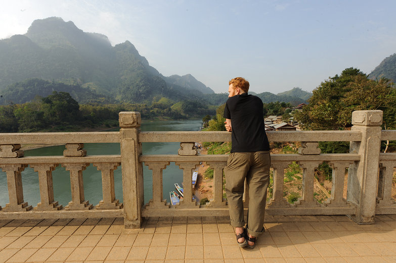 Tyler & Incredible Lao Mountain Views