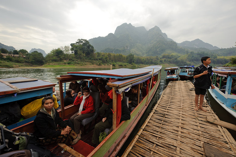 Boat to Muong Ngoi
