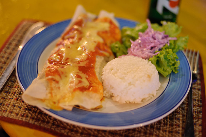 Chicken Enchilada at Tex- Mex Restaurant