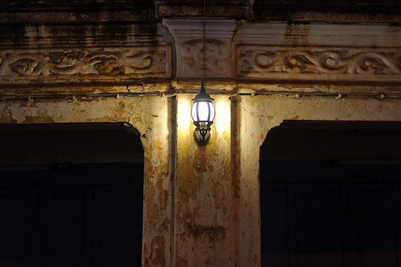 Vientiane Building by Lamplight
