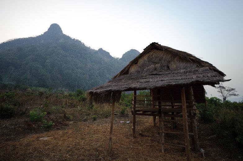 Lao Hut w/Limestone Karsts