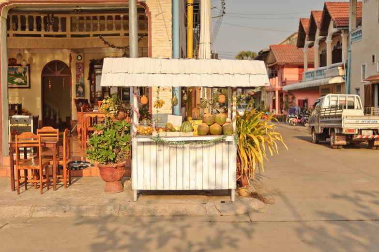 Thakek Fruit Stand