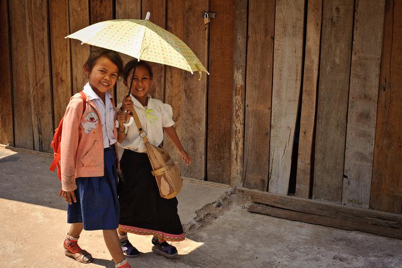Lao Girls w/ Parasol