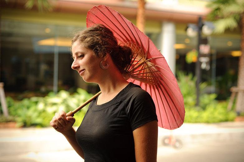 Tara with Parasol