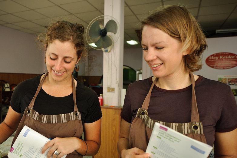 Tara & Freddie Cooking